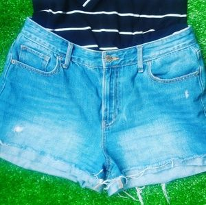 Old navy hight waisted denim jean shorts size 8